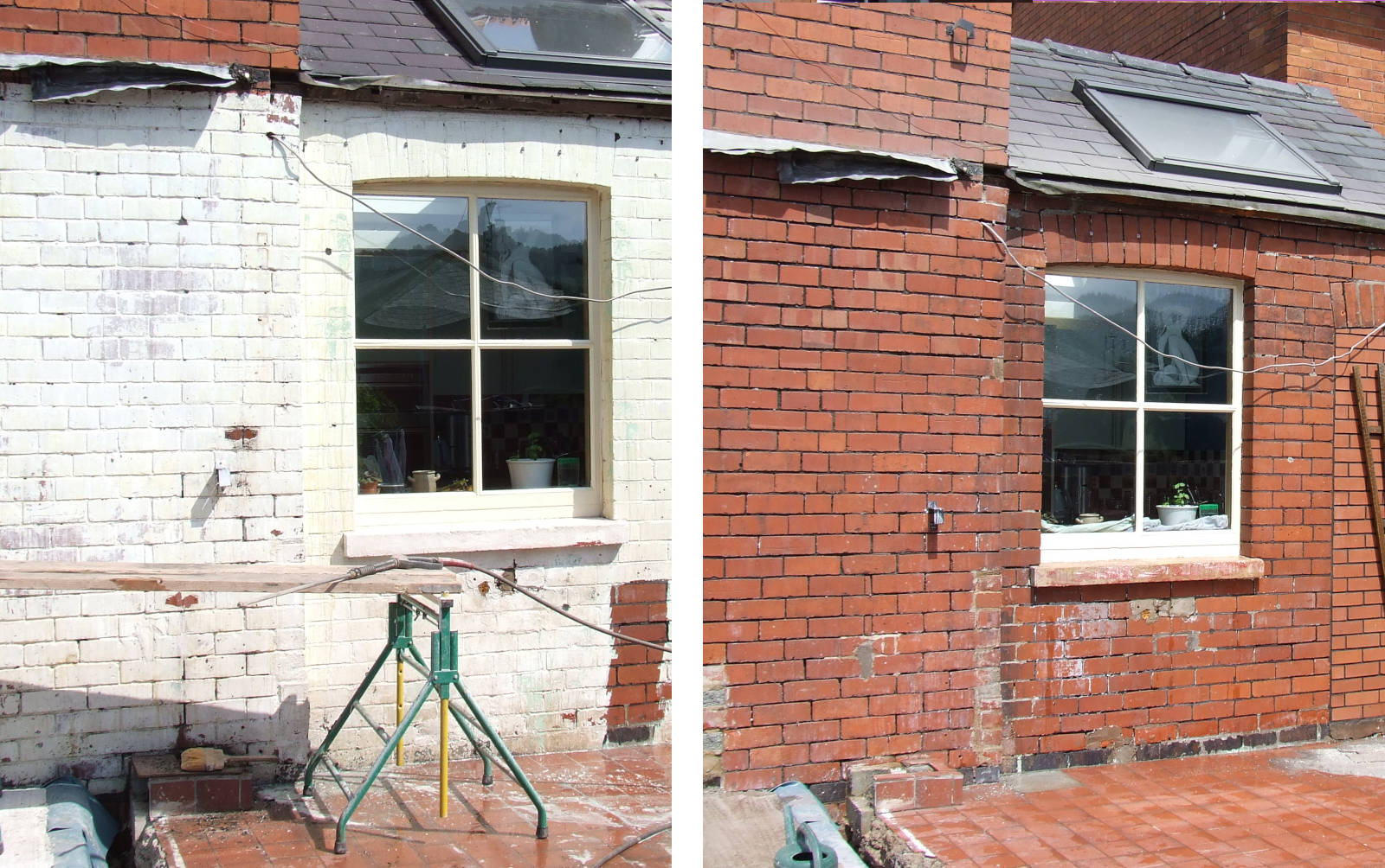 Image of Removing old paint from brickwork and stone can be a nightmare