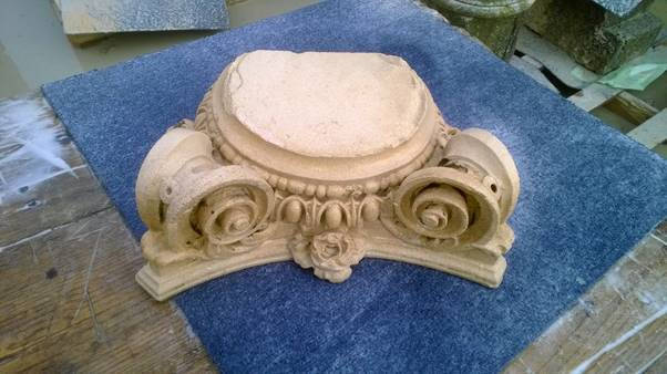 An image of Torc Cleaning of Stone Capitals - The Result goes here.